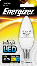 Energizer 6.2W Candle E14 Bulb