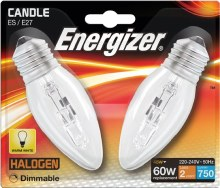 Energizer 48W E27 Halogen Bulbs 2 Pack