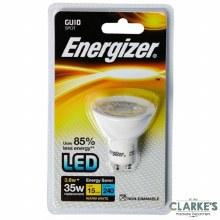 Energizer LED 3.6W (35W) GU10 Spot Warm White Light Bulb Non Dimmable