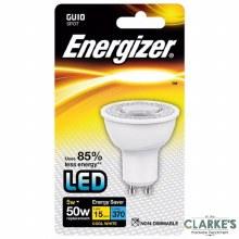 Energizer LED 5W (50W) GU10 Spot Cool White Light Bulb Non Dimmable
