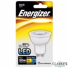 Energizer LED 5W (50W) GU10 Spot Warm White Light Bulb Non Dimmable