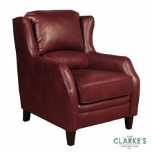 Epsom burgundy leather armchair