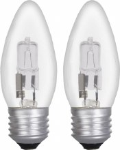 Eveready 20W E27 Candle Halogen Bulbs 2 Pack