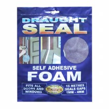 Exitex Draught Seal - Self Adhesive Foam Brown 15 Meter