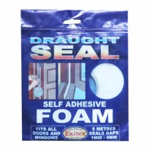 Exitex Draught Seal - Self Adhesive Foam White 5 Meter