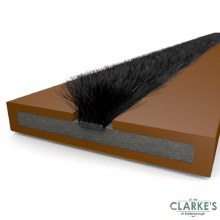 ExiFire Intumescent Door Fire and Smoke Seal Brown