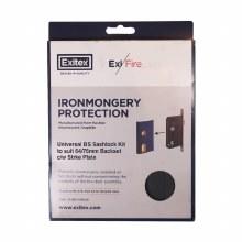 ExiFire Ironmongery Protection - Universal BS Sashlock Kit to suit 64/76mm Backset c/w Strike Plate