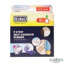 Exitex P Self Adhesive Rubber Strip White 5 Meter