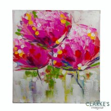 Exotic Floral Purple Wlll Art on Canvas