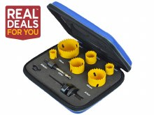 Faithfull 9 Pieces Holesaw Kit