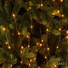 Micro LED Christmas Tree Branch Lights - Amber 2 m