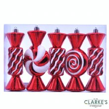 Stripped Candy - Christmas Tree Ornaments | Set of 5