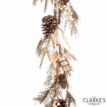 Gold Leaf Christmas Garland 150cm