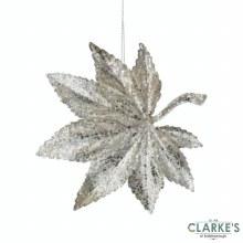 Champagne Gold Leaf Christmas Tree Decoration 11cm