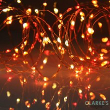 100 Micro LED Battery Operated Christmas Lights - Amber