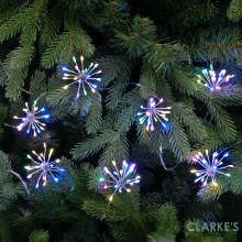 LED Starburst Christmas Lights - Pastel Multicolour
