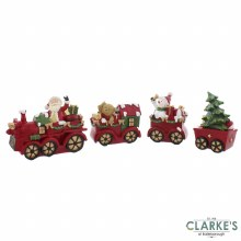 Santa Train Christmas Ornament