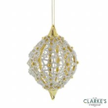 Filigree Christmas Tree Decoration 8cm