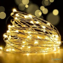 100 Micro LED Battery Operated Christmas Lights - Warm White