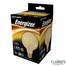 Energizer LED Filament 5W (40W) G95 E27 Amber Light Bulb