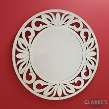 Fiore luxury round wall mirror 100cm