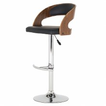 Flair black bar stool