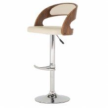 Flair cream bar stool