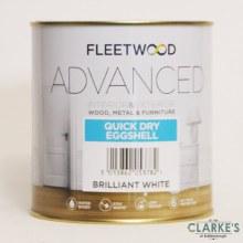 Fleetwood Advanced Quick Dry Eggshell Paint White 1 Litre