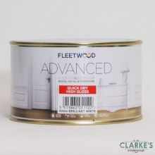 Fleetwood Advanced Quick Dry High Gloss Paint White 500ml
