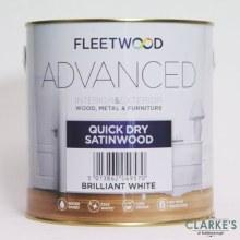 Fleetwood Advanced Quick Dry Satinwood White 1 Litre