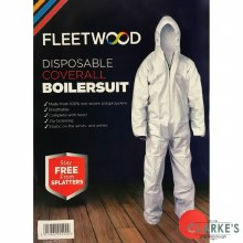 Fleetwood Disposable Coverall Boilersuit Size XL