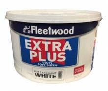 Fleetwood Extra Plus Vinyl Soft Sheen White 10ltr