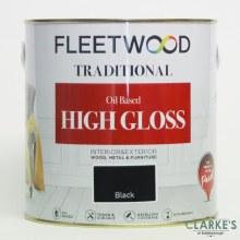 Fleetwood Traditional High Gloss Black Paint 2.5 Litre