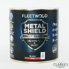 Fleetwood Metal Shield Paint 1 L Black Gloss
