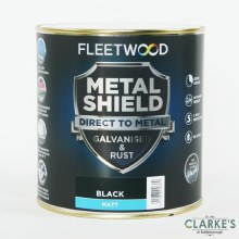 Fleetwood Metal Shield Paint 1 L Black Matt