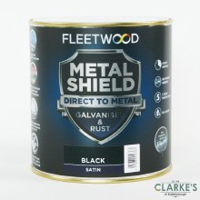 Fleetwood Metal Shield Paint 1 L Black Satin