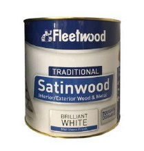 Fleetwood Traditional Satinwood White 2.5ltr
