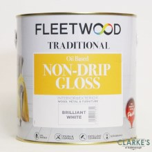 Fleetwood Traditional Non-Drip Gloss White Paint 2.5 Litre
