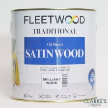 Fleetwood Traditional Satinwood White 2.5 Litre
