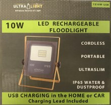 LED 10W Rechargeable Floodlight