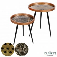 Modern Round Side Tables Set of 2