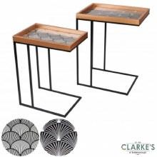 Modern Rectangular Side Tables Set of 2