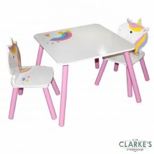 Sweet Unicorn Table & 2 Chairs