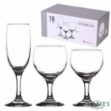 Versailles 18 Piece Glassware Set