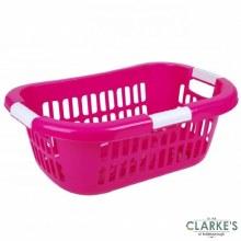 Urban Living - Wide Laundry Basket Pink
