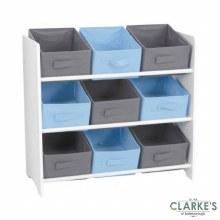 Urban Living - Storage Unit with 9 Fabric Baskets