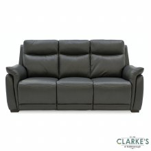 Francesco 3 Seater Fixed Half Leather Sofa Grey
