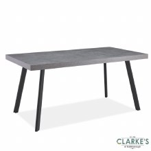 Frederic Concrete Effect Top Dining Table