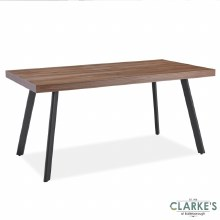 Frederic Walnut Effect Top Dining Table