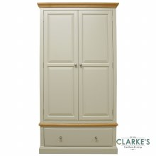 French Oak Double Wardrobe with Drawer
